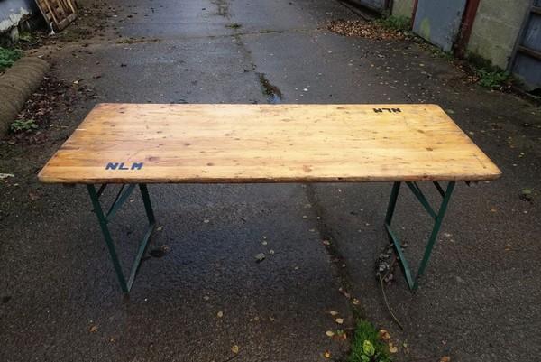 Secondhand trestle tables