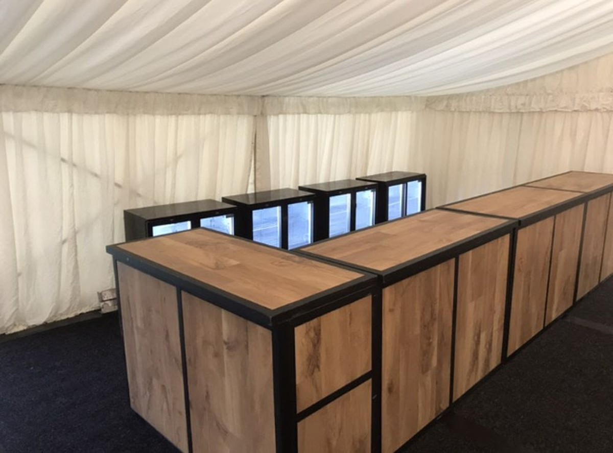 Mobile Collapsable Wooden Bar 5ft Sections West Yorkshire