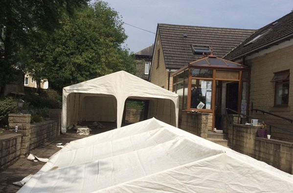Used garden tent for sale
