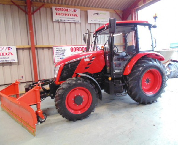 Farming Zetor Major 80CL 4WD, fitted with DW Tomlin Snow Plough & Salt Spreader