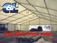Clear span 20m wide marquee