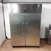 Second Hand Valera UGNSC2 Stainless Steel Double Upright Fridge
