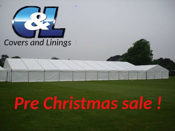 12m x 30m Covers and lining clear span marquee