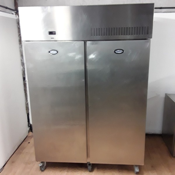 Used Foster PSG1350H Stainless Steel Double Upright Fridge (7671)