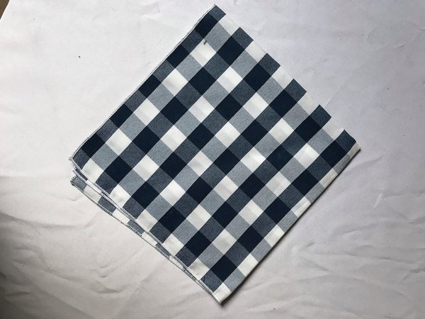 Blue & White Gingham Square Napkins