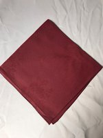Burgundy Square Napkins