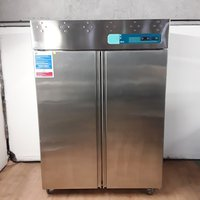 Second Hand Arex  Stainless Steel Double Upright Fridge (7681)