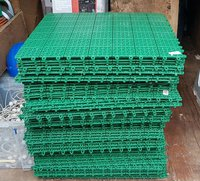 Plastic floor for marquees