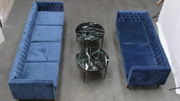Peacock Blue Chesterfield Style Sofas