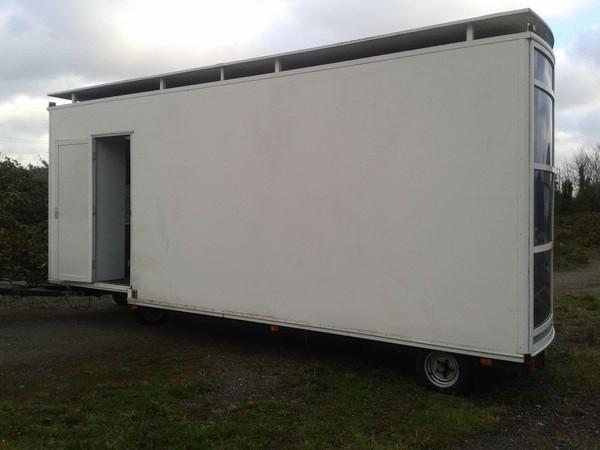 Rear door / back of race trailer