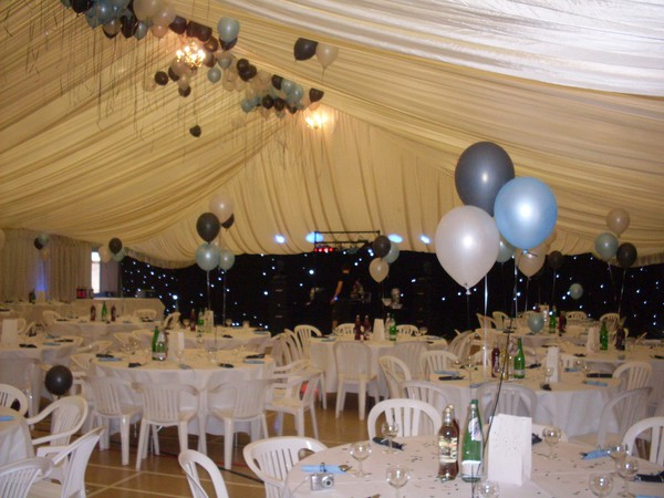 large ivory marquee lining suitable for a sports hall.