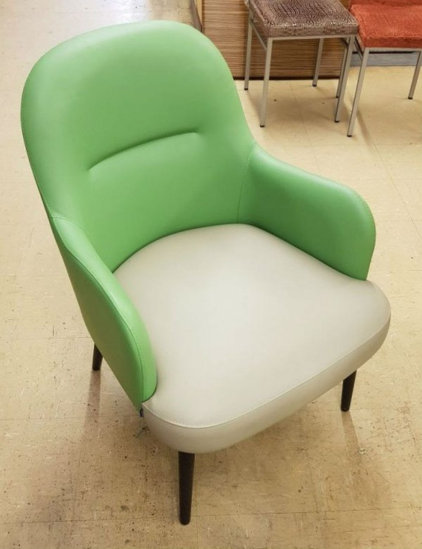 Green and cream tub chairs for sale