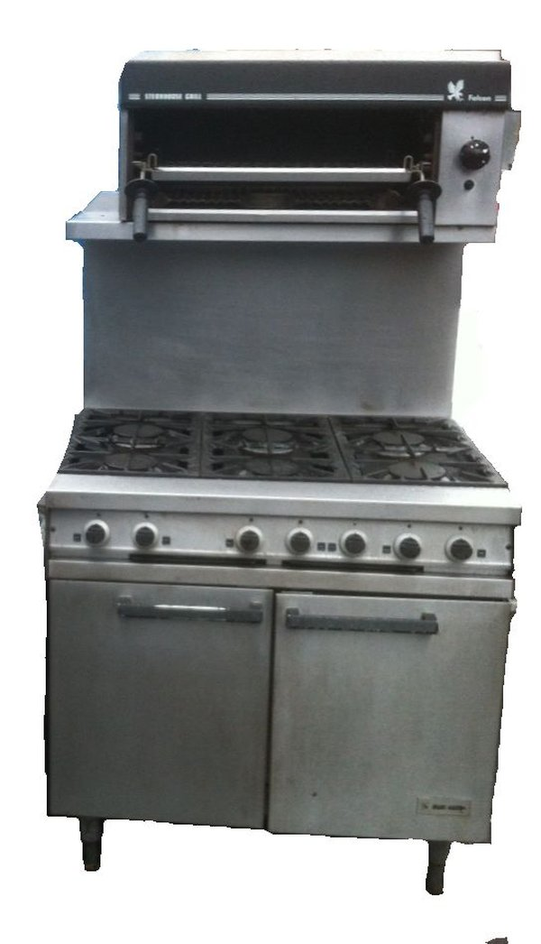 6 Ring Falcon Dominator Gas Cooker Oven With Salamander