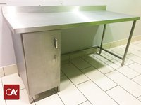 Steel table and cabinet