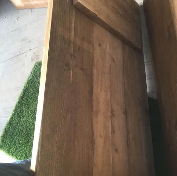 Oak trestle tables