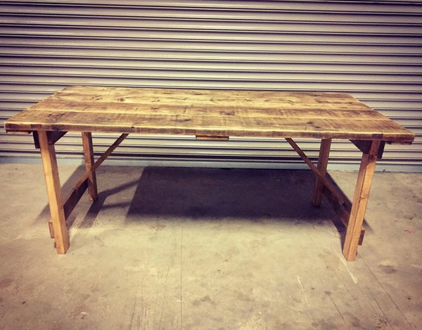Retro Rustic Reclaimed Wooden Tables