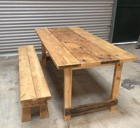 Recycled rustic tables