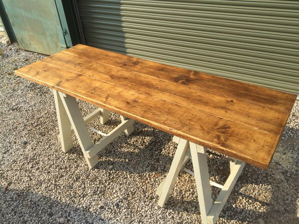 Rustic Reclaimed Wooden Tables - Trestle or Folding Legs - Lancashire 7