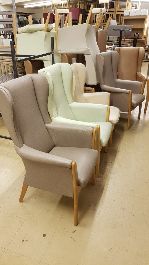Easy clean nursing home chairs