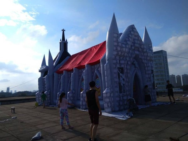 Art installation inflatables Church