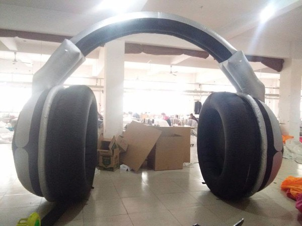 Giant Inflatable headphones