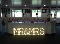 Mr and Mrs letters for sale