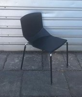 Italian Stacking Chairs In Black