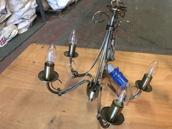 Secondhand brass chandeliers