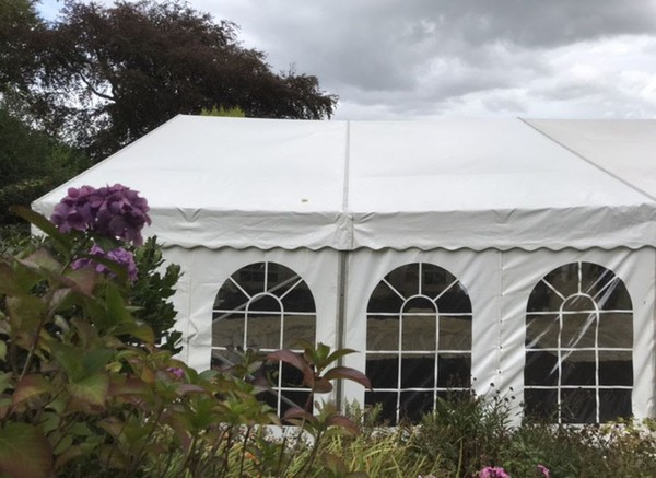 Secondhand marquee walls