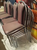 stacking chrome chairs