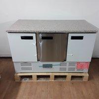 3 door bench fridge