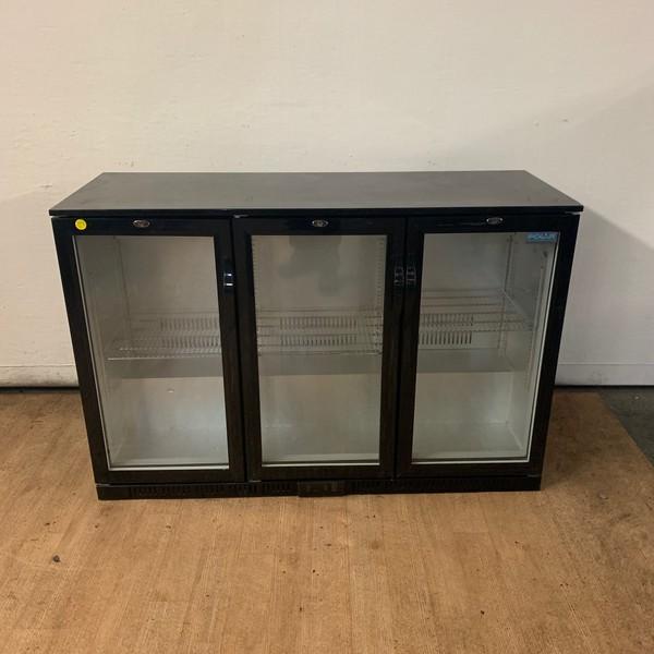 Triple door bottle fridge