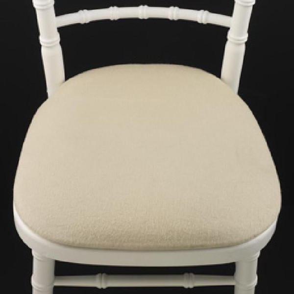 Ivory Banquet Chair Seat Pads