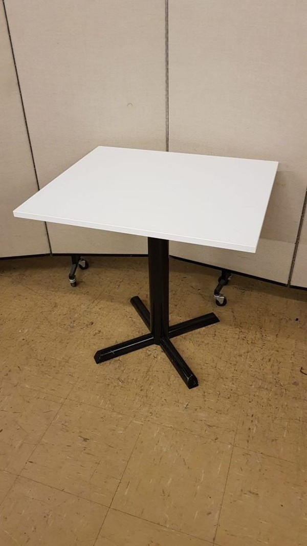 white laminate tables