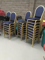 34x Stacking / Banqueting Chairs (CODE SC 121)