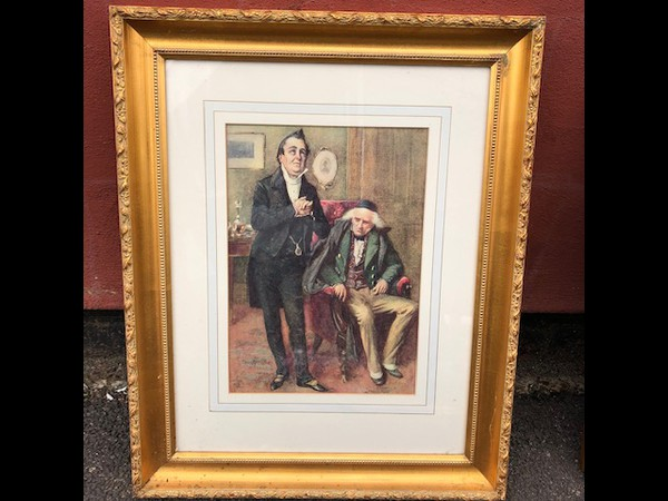 Used deco framed  print