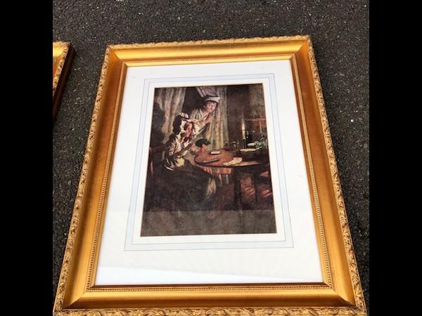 Used framed wall print
