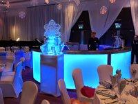 4m Round LED Illuminated Stainless Steel Mobile Bar