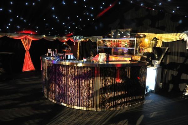 4m Circular LED Illuminated Stainless Steel Mobile Bar