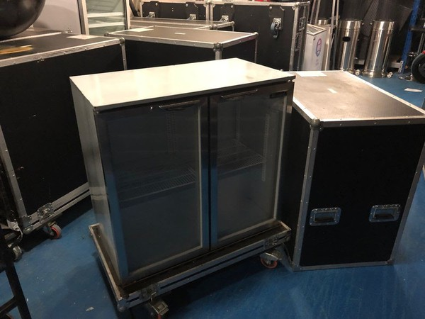 Used Bottle Fridge Stainless Steel made by Blizzard