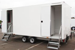 White 3 + 1 toilet trailer for sale