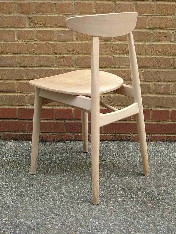 Retro Style Raw Beech Chairs
