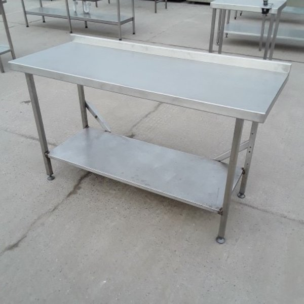 1.55m Long stainless steel table