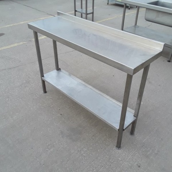 1.3m stainless steel table