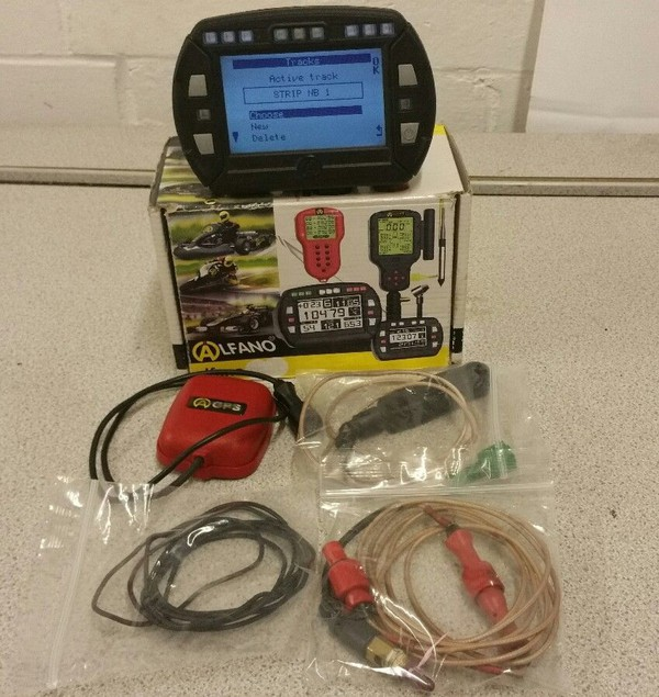Kart Alfano Pro III Evo With Magnetic Pick Up Water Sensor / GPS Sensor Rotax