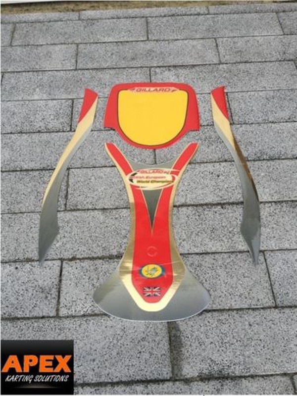 GILLARD Genuine Nassau Panel sticker kit - ROTAX CRG X30 IAME