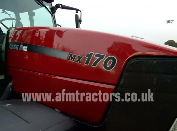 4WD 2002 Case Mx170 Tractor