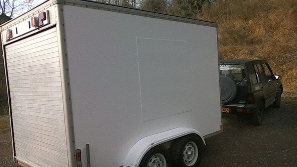 Second Hand Tow A Van 10X6 Twin Axle Box Trailer