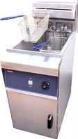 New - Single Tank, Twin Basket Electric Freestanding Commercial Fryer