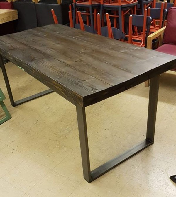 Heavy Duty Rustic Industrial Inspired Dining Table